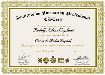Certificado - Audio Digital
